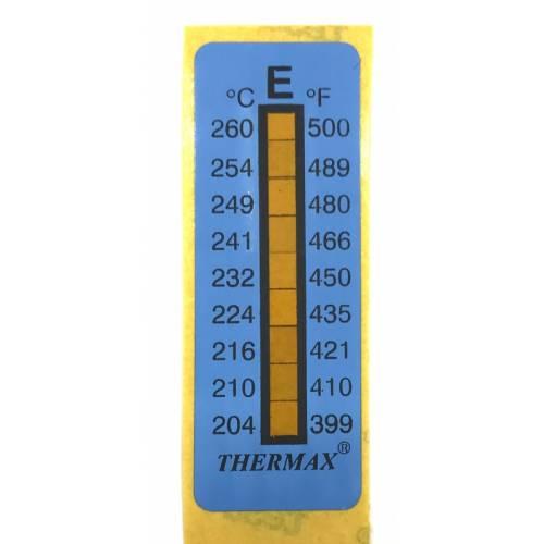 Термоиндикатор THERMAX-E самоклеющийся 1 шт. 204°С - 260°С