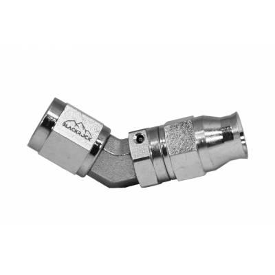 4 AN (4AN AN4) фитинг 45 градусов сталь BLACKROCK LAB T04-045-04S под тефлоноый шланг (600 серия)