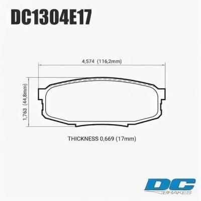 DC Brakes RT.2 задние тормозные колодки для Toyota Land Cruiser 200/ Lexus LX570/LX450d