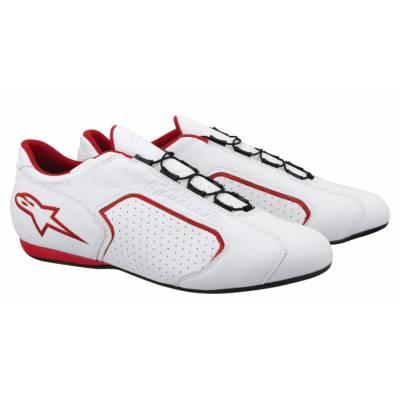 ALPINESTARS 2610213_23_6 Ботинки MONTREAL, белый с красным, натуральная кожа, р-р 38