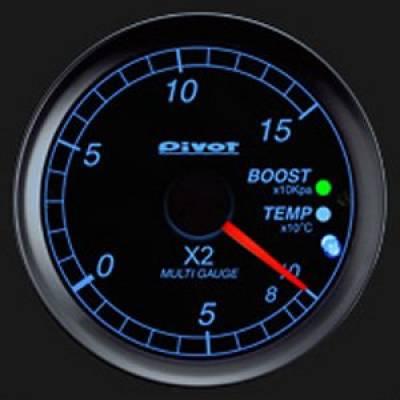 PIVOT X2-L Мультидатчик OBDII, диамерт 60мм, синяя подсветк