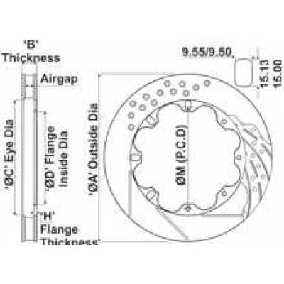 AP RACING CP3580-2901G8 VD-330x28L12Fx203,2D48.7