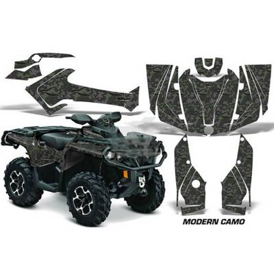 AMR RACING 556465200MC/S CanAm Outlander EFI 500-1000 06-11 Комплект наклеек ModernCamo/Silver