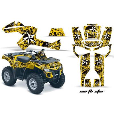 AMR RACING 556465200NS/W/Y CanAm Outlander EFI 500-1000 06-11 Комплект наклеек Northstar/White/Yello