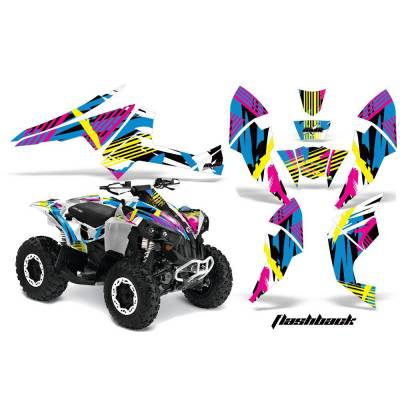 AMR RACING 556465465F CanAm Renegade 06-15 Комплект наклеек Flashback