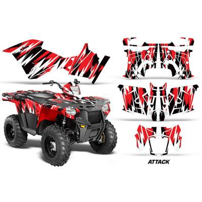 AMR RACING 1420-15199A/R Polaris Sportsman 570 14-15 Комплект наклеек Attack/Red