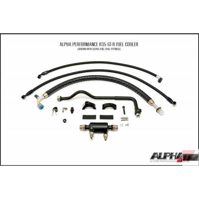 AMS ALP.07.07.0102-1 К-т охлаждения топлива (через кондиционер) под ОЕМ рейки для NISSAN GT-R R35