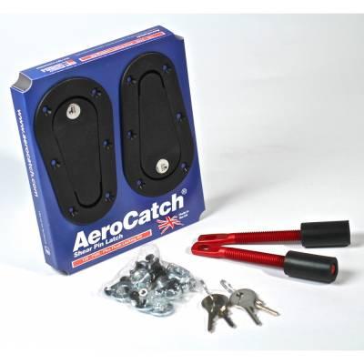 AEROCATCH Замки капота, черные с ключем