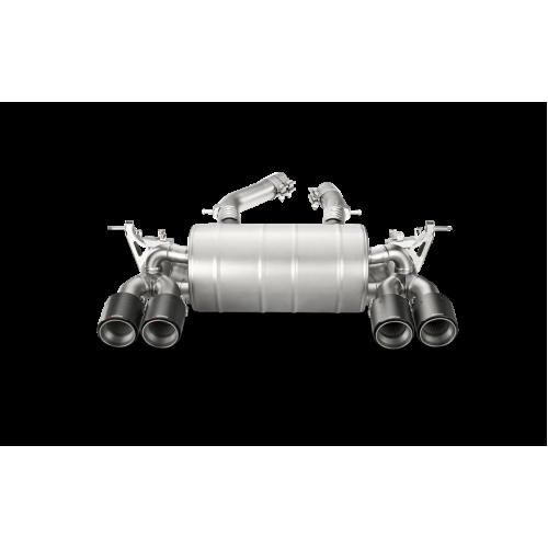 AKRAPOVIC  Титановая Выхлопная система Slip-On (задняя часть) для BMW M3/M4 (F80/F82) (без насадок)