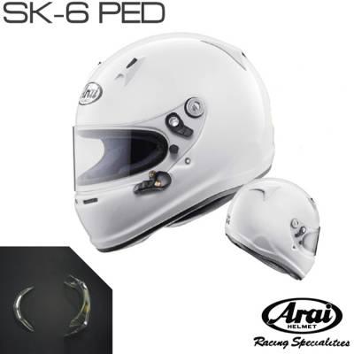 ARAI Шлем для картинга SK-6 PED , белый, р-р L (59-60)