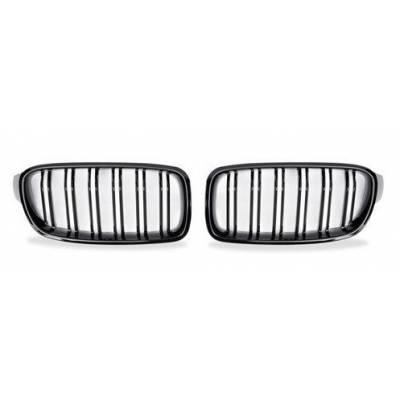 решетки радиатора со сдвоенными спицами для BMW 3-series F30/F31 (Черный глянец)