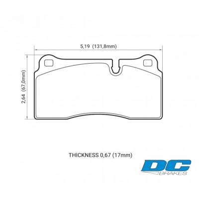 DC brakes Race Track Задние тормозные колодки для Nissan GTR R35/AUDI R8/Gallardo/Murcielago