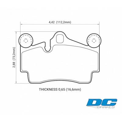 DC Brakes Street STR.S задние тормозные колодки для Porsche Cayenne / VW Touareg/ Audi Q7 (330-358mm disc)