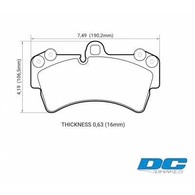 DC Brakes STR.S Передние тормозные колодки для Porsche Cayenne/ VW Touareg/Audi Q7 (350mm disc)