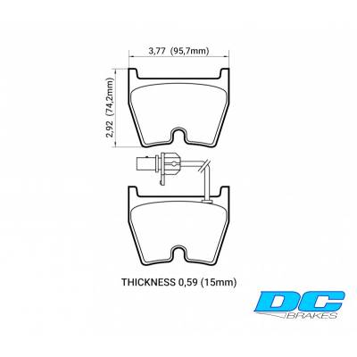 DC Brakes Race Track Передние тормозные колодки для AUDI R8/RS4/RS5/RS6/LAMBORGINI Gallardo/Murcielago/Brembo G/JBT FB8P (8колодок)