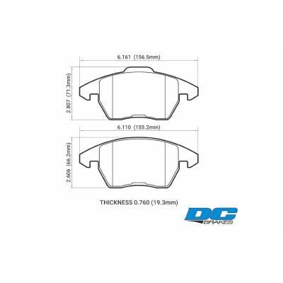 DC Brakes RT.2 передние тормозные колодки AUDI TT/A3/VW Golf 5-7 GTi/Scirocco/Passat/Octavia RS (под 312мм диск)