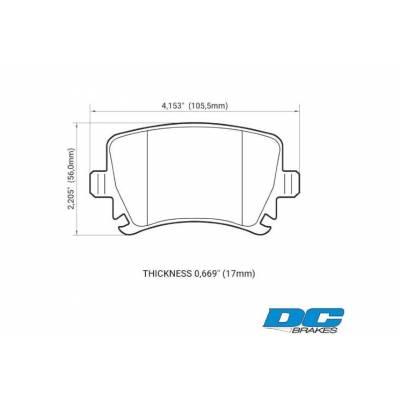 DC Brakes RT.2 задние тормозные колодки для VW Golf 5-6 GTi/ AUDI RS3/ S3/ SKODA/ SEAT (310мм диск)