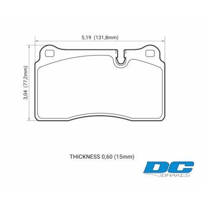 DC Brakes RT.2 Передние тормозные колодки для Aston Martin DB9/Vantage V8/Rapide/EVO 10/WRX STi