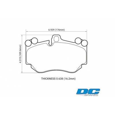 DC Brakes RT.2 Передние тормозные колодки для Porsche Cayenne Turbo/Turbo S/Audi A8/Murcielago (2005-2010) (под 380мм диск)