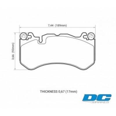 DC Brakes RT.2 Передние тормозные колодки для Audi RS6/RS7 (C6/C7)/ E63/C63/ML63/SL63/G63/AMG GT