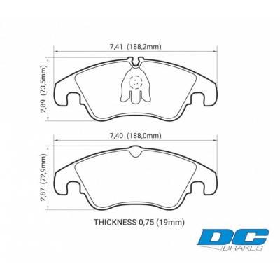 DC brakes Street STR.S Передние Тормозные колодки для AUDI S4/S5/A6/A7 (под 320-345мм диск)