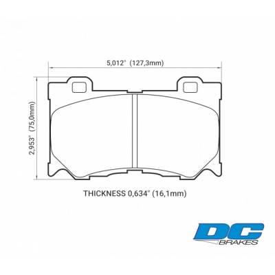 DC Brakes RT.2 передние тормозные колодки для Infiniti QX70/G37/FX37/FX50/M56/Nissan 370z (Akebono)