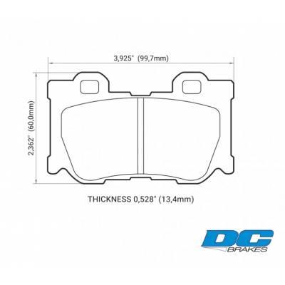 DC Brakes RT.2 задние тормозные колодки для Infiniti QX70/G37/FX37/FX50/M56/Nissan 370z (Akebono)