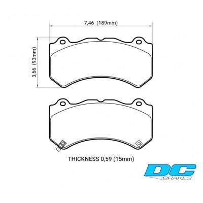 DC brakes Race Track передние тормозные колодки для Chevrolet Camaro 6.2/ Grand Cherokee (WK2) SRT8/ Cadillac СTS-V