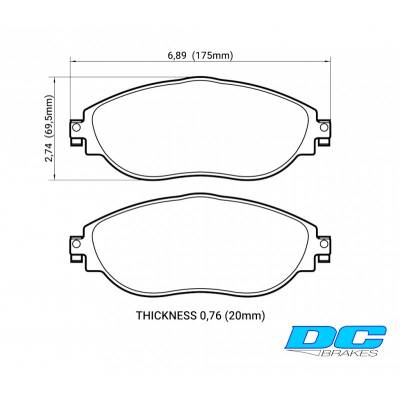 DC Brakes STR.S Передние тормозные колодки для Skoda Octavia A7/Leon 5F/Golf 7 (2012+) (под 340мм торм диск)