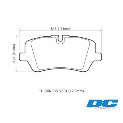 DC brakes RT.2 Задние тормозные колодки для Range Rover/ Sport (под 365мм диск) (2012+)