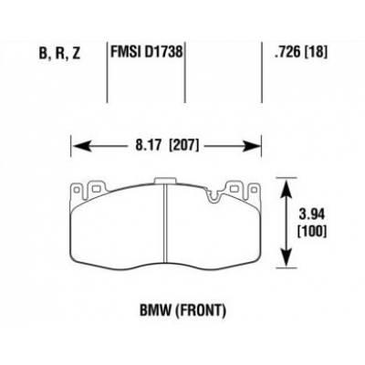 DC brakes RT.2 Передние тормозные колодки для BMW X5M/X6M (F85/F86)