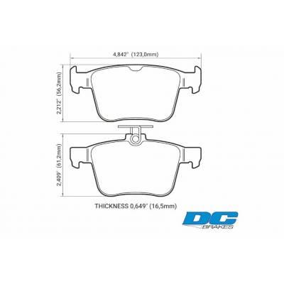 DC brakes RT.2 задние тормозные колодки VW Golf 7R/Tiguan 2/Audi S3/RS3/TTS