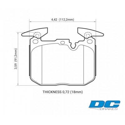 DC Brakes Race Track передние тормозные колодки для BMW M3/M4/1/2/3/4-series (M-Performance)