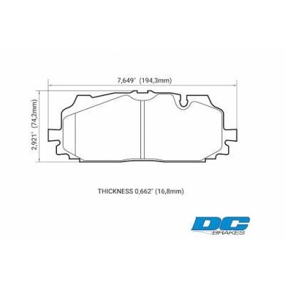 DC brakes RT.2 передние тормозные колодки Audi Q7 (4M)/S4/RS4/S5 (B9)/A6/A7/A8/SQ5 (c8/d5)/Touareg mk3 (под 350-375мм диск)