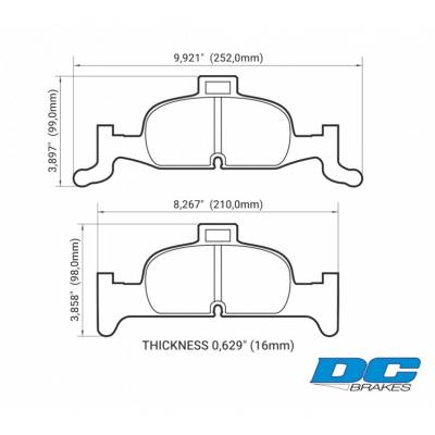 DC brakes RT.2 передние тормозные колодки Audi A4/A5 (B9)/Q5 (под 318/338мм диск)