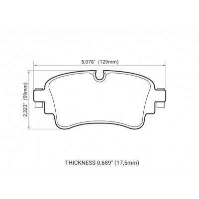Brannor задние тормозные колодки Audi Q7 (4M)/A4/A5 (B9)/Q5 (под 330/330мм диск)