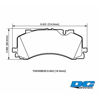 DC Brakes Street STR.S+ передние тормозные колодки Audi Q7/SQ7/Q8/S6/A7/A8 (4M/c7/d5) (под 400мм диск)