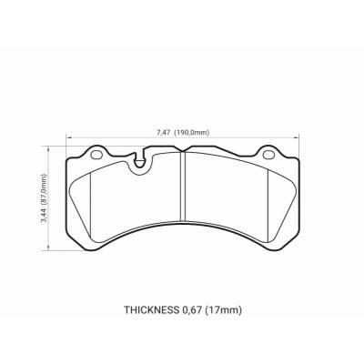 DC Brakes Race Track тормозные колодки для Brembo 6 поршней тип J, N / PORSCHE 911 (997)