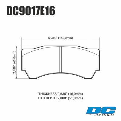 DC Brakes RT.2 тормозные колодки для суппортов Alcon Monoblock 6