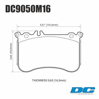 DC brakes Race Track передние тормозные колодки для Mercedes A45 AMG/ CLA45/GLA45