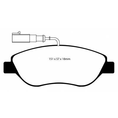EBC Ultimax передние тормозные колодки DP1382/2