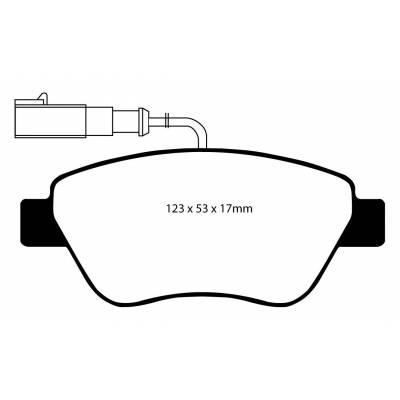 EBC Ultimax передние тормозные колодки DP1384/2
