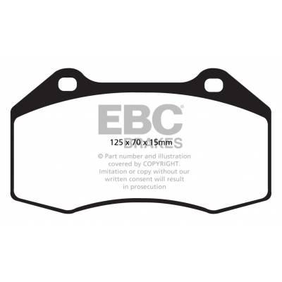 EBC Yellowstuff передние тормозные колодки DP42021/2R