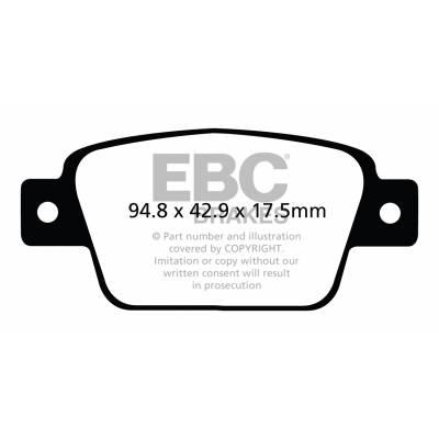 EBC Ultimax задние колодки DPX2107