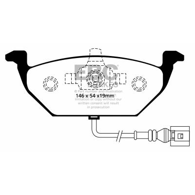 EBC Ultimax передние тормозные колодки для Audi A1/A2/A3 (8L-8P)/Leon/Octavia/Yeti/Golf 4-6/Jetta 5-6/Polo (под 256/280мм диск)