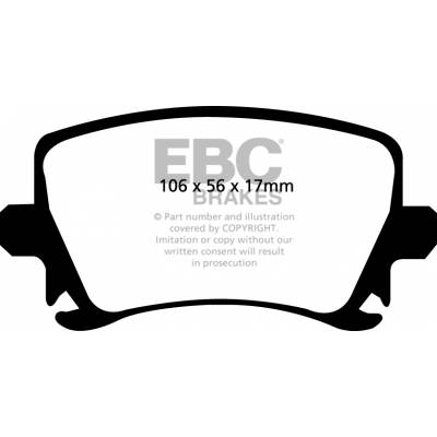 EBC Ultimax задние тормозные колодки для VW Golf 5-6R/Scirocco R/Passat/Audi S3 (8p)/Leon Cupra R/Octavia RS A5 (for 260/286/310mm disk)