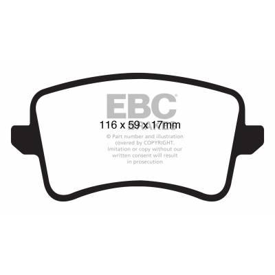 EBC Ultimax задние тормозные колодки для Audi S4/S5/A4/A5(b8)/Q5/SQ5 (под 300/330мм диск)