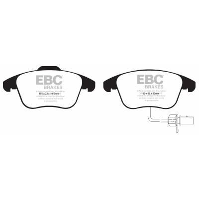 EBC Ultimax передние тормозные колодки для AUDI A4/A5 (B8) (под 314мм диск)