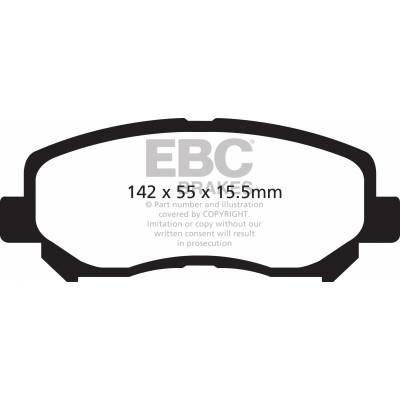 EBC Greenstuff Передние тормозные колодки для Mazda CX5 (2012+)