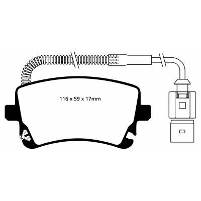 EBC Ultimax задние тормозные колодки для Audi S4/RS4/RS6/S6/A6 (C5/C6)/S8/A8/Phaeton